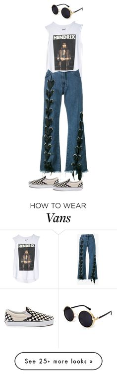"""""""mannequinxo x steampunk hendrix .. nazanin mandi"""" by xoflawlessmannequinxo on Polyvore featuring Marques'Almeida and Vans"""