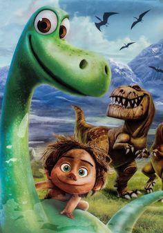 Arlo and Spot from Disney's, The Good Dinosaur movie