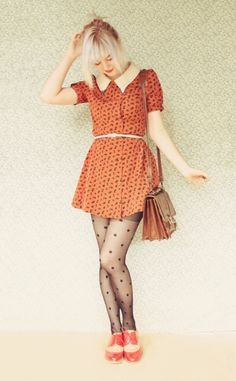 100% me right there! So to my liking! Except I would style this with black tights instead of polka dots :)