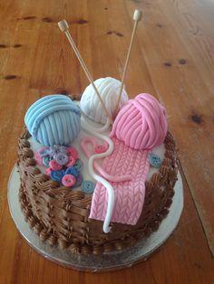 Crochet themed cake | My Sweet Life | Knitting cake ...