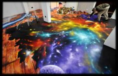 Space graffiti art installation