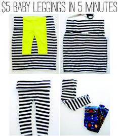 5 minute, 5 step, $5 leggings. | Small Fry