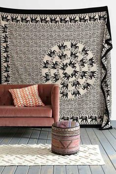 Mesmerizing medallion tapestry crafted in soft woven cotton. Instantly adds a unique touch of boho charm to any living space or dorm room. **And yes, this is the same tapestry sold for $59 and up at a