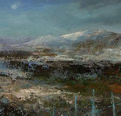 British Artist Amanda HOSKIN-Winter Moon, Scotland