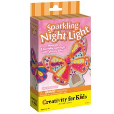 Creativity for Kids Sparkling Butterfly Night Light Activity Set