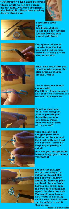 Ear cuff tutorial by ~77Flower77 on deviantART