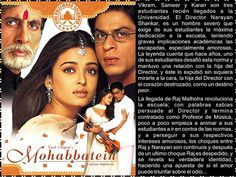 Cine Bollywood Colombia: MOHABBATEIN