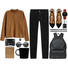 Falling towards fall by rheeee on Polyvore featuring H&M, Closed, Aquazzura, Givenchy, Dogeared, Larsson & Jennings, Paul Smith, Koh Gen Do, Nails Inc. and iittala