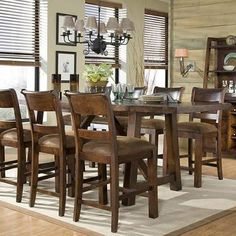Woodland Ridge Rectangular Trestle Pub Table By Legacy Classic   Belfort  Furniture   Pub Table Washington DC, Northern Virginia (NoVA), Maryland, ...