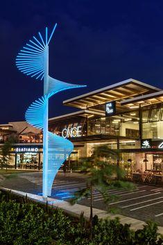 Majadas Once on Architizer Building Exterior, Building Plans, Building Design, Light Architecture, Landscape Architecture, Architecture Design, Mall Design, Retail Design, Arch Street