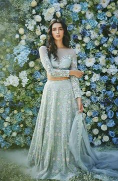 Designer Dresses in beautiful colors Wedding Dresses For Girls, Indian Wedding Outfits, Pakistani Outfits, Bridal Outfits, Indian Outfits, Indian Clothes, Indian Weddings, Indian Gowns, Indian Lehenga
