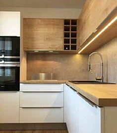 [Most Updated] Stylish Kitchen Cabinet Design Ideas 2019 40 Kitchen Cabinet Design Ideas – cuisine moderne Modern Kitchen Cabinets, Kitchen Cabinet Design, Kitchen Modern, Kitchen Cupboard, Updated Kitchen, Minimal Kitchen, Modern Kitchens, Home Decor Kitchen, Kitchen Furniture