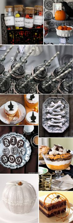 Halloween Desserts for a Halloween party.