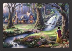Branca de Neve - Floresta - Tcholos - A sua loja de quadros decorativos