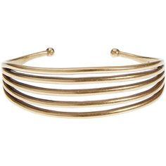 Lucky Brand Gold Linear Cuff (330 SEK) ❤ liked on Polyvore featuring jewelry, bracelets, medium dark yellow, lucky brand jewellery, cuff bangle, gold jewelry, gold bangles and gold jewellery