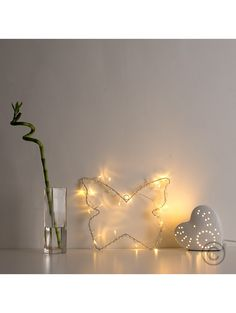 Butterfly Shape Battery Operated 20 LED Wall Plaque