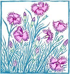 Clare Melinsky | Illustrator | Central Illustration Agency #illustration #print #printmaking #floral #flower #linocut