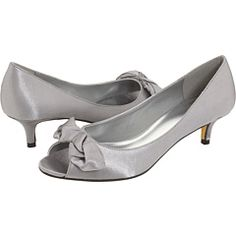 silver low heel pumps | Round Toe Cutie Comfy Mid Heel Pumps Shoes ...