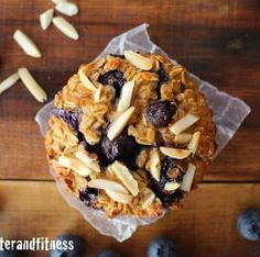 blueberry almond oatmeal muffins
