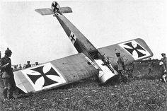 Crashed German plane.WW1