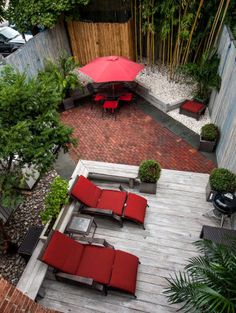 Holy kittens! Love this small backyard.  So interesting and different!