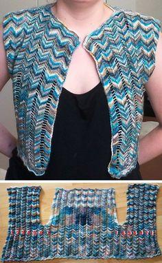 Free knitting pattern for Fenstal Shrug