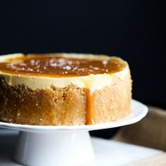 Instant Pot Salted Caramel Cheesecake - Cookies and Cups