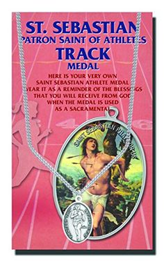 StealStreet SSWjh6508048 Oval St Sebastian Womens Track Medal on Chain *** To view further for this item, visit the image link. (This is an affiliate link and I receive a commission for the sales)