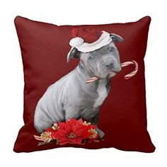 Christmas Pitbull Puppy Pillow Case -- Find out more about the great product at the image link.