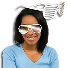 White Slotted Glasses - 12 Pack | Windy City Novelties