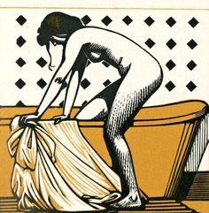 timeofbeauty: Carlègle - Mon amie Nane, 1925.
