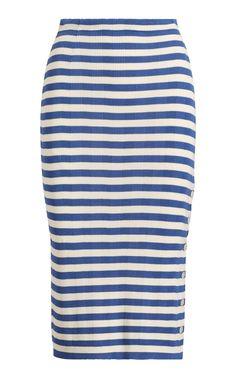 Silk Striped Pencil Skirt by RALPH LAUREN