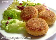 Polpette di patate e ricotta, ricetta secondi piatti http://blog.giallozafferano.it/notadolce/polpette-di-patate-e-ricotta-ricetta-secondi/