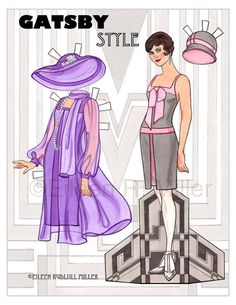 Gatsby Style Paper Doll