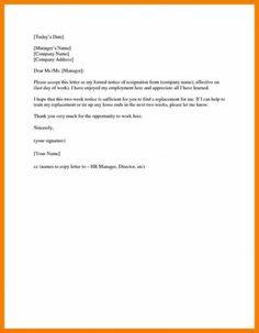 8 best resignation letter format images interview languages business resume