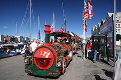 Bergen, Norway...catching the Bergen Harbor tourist train