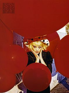 The Terrier and Lobster: Pure Wonder: Olya Ivanisevic and the Red Balloon by Ellen von Unwerth for Vogue Italia