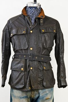 MEN'S VINTAGE BELSTAFF TRIALMASTER JACKET - Grahame Fowler Original - Men's Clothing - Men's Shirts - Based in NYC