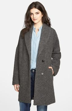 Free shipping and returns on 7 For All Mankind® Textured Drop Shoulder Coat at Nordstrom.com. Dropped shoulders and an oversized fit define the borrowed-from-the-boys style of a shawl-collar coat in a wool-rich blend textured with horizontal ribbing.