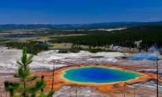 Yellowstone Vacations - Grand Prismatic Spring, Yellowstone National Park