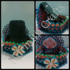 Quilled mobile stand