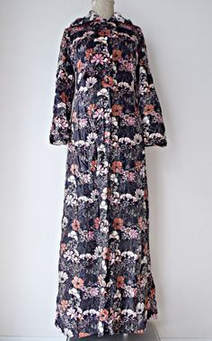 Vintage 60s Hooded Dress Size Small BOHO by JadeDesignVintage