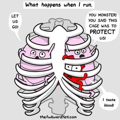 this is what happens in my rib cage when I run
