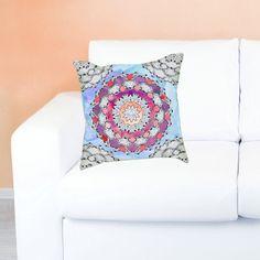 LOVE  #DIY Mandala Pillow Color Your Own Mandala by Exaltation mandala coloring, paint your own mandala throw pilloe
