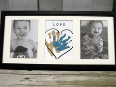 DIY handprint & tissue paper photo wall art