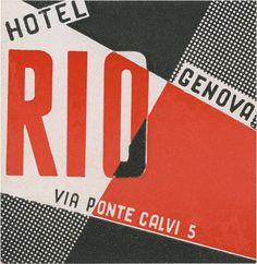 luggage label / Hotel Rio, Genoa davidgeorgepearson