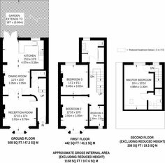 25 New Ideas For Garden Design Layout Ideas Victorian Terrace Victorian Terrace Interior, Victorian Townhouse, London Townhouse, Victorian Homes, Loft Conversion Victorian Terrace, Victorian Decor, Victorian Architecture, Bedroom House Plans, House Floor Plans