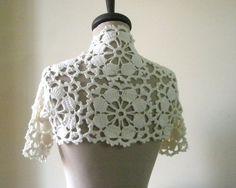 White Wedding Shrug White Bolero NEW Design by filofashion on Etsy, $68.00