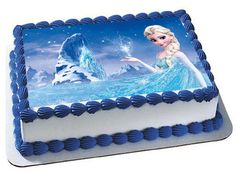 Frozen Birthday party Frozen cake topper by Trendytreathouse