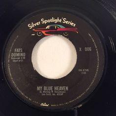 FATS DOMINO 45RPM Vinyl My Blue Heaven I Hear You Knocking Silver Spotlight X006